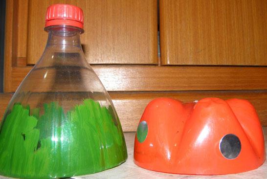 Как из пластиковой бутылки сделать гриб