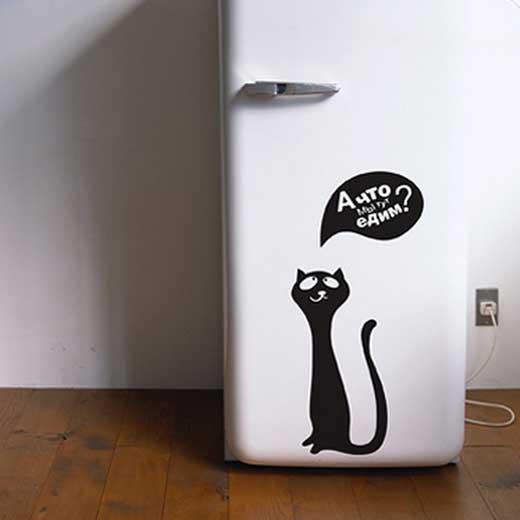 Наклейки для холодильника своими руками
