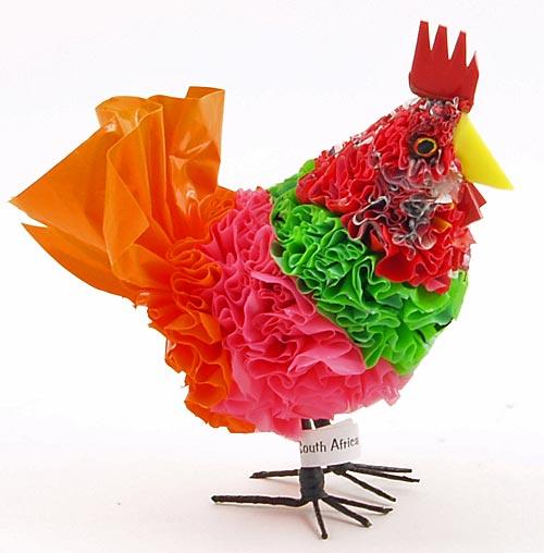 Поделка наседка с цыплятами из пластиковых бутылок