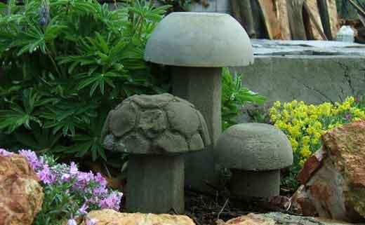 Идеи из цемента своими руками для сада