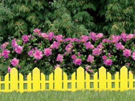 Заборчики для клумб и цветников  фото из дерева 181