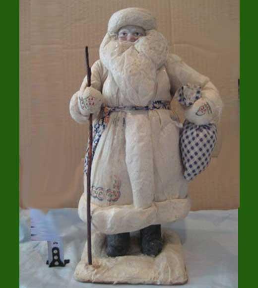 Дед мороз из папье-маше и ваты мастер