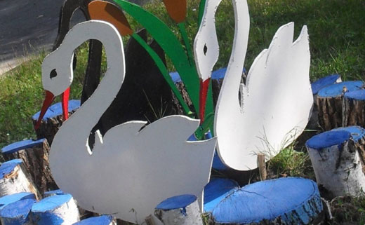 Фигурки для сада своими руками шаблоны фото
