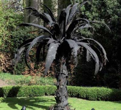 Пальмы из шины своими руками