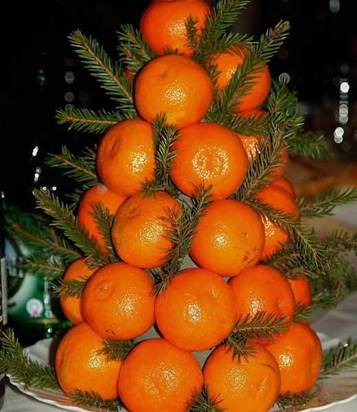 Мандариновая елка своими руками фото