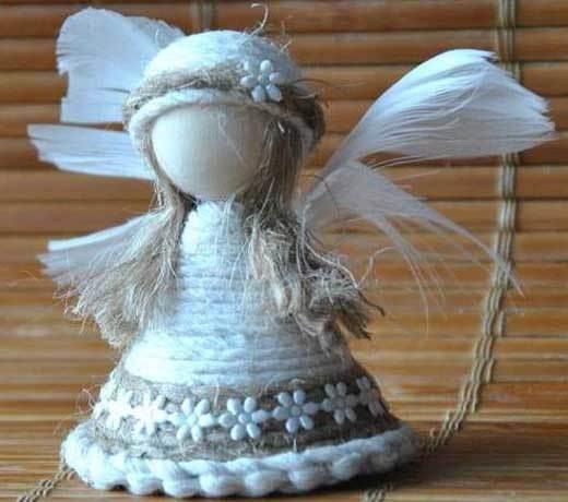 Ангелы из ткани своими руками фото