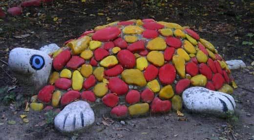 Поделки из камня своими руками для сада фото 79