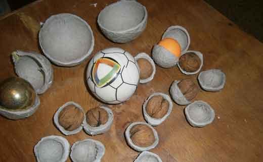 Ёлочные игрушки из папье маше своими руками