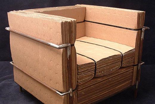 кресло картонное