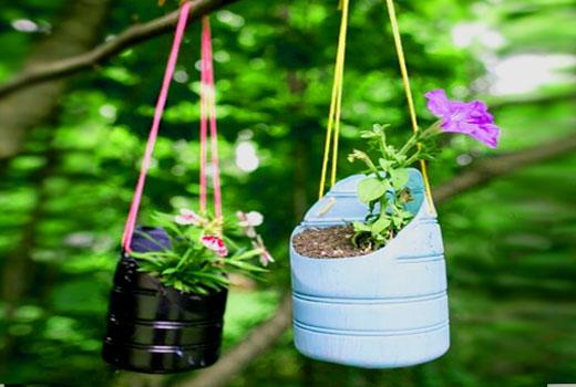горшок для цветов пластик