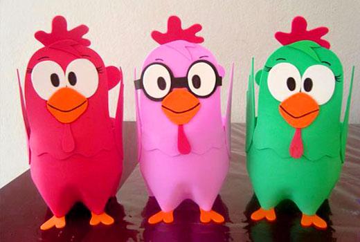 цыплята из пластиковых бутылок