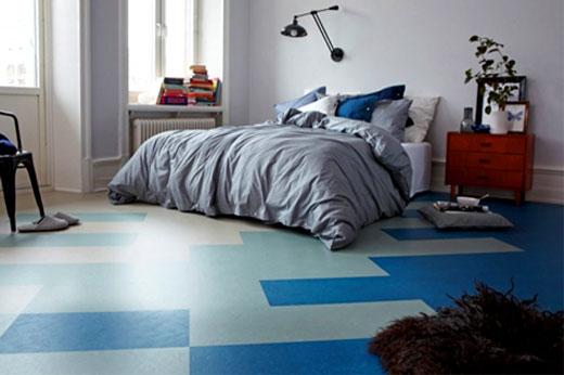 красивый линолеум в спальне