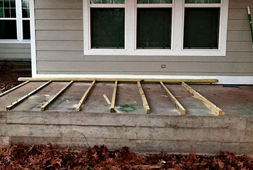 пол  бетонного крыльца