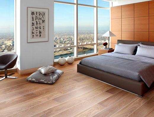 классический линолеум в спальне