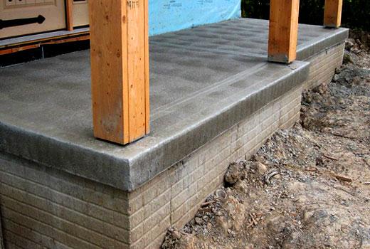 бетонная веранда