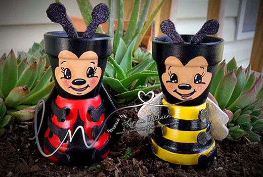 пчелка и божья коровка поделки