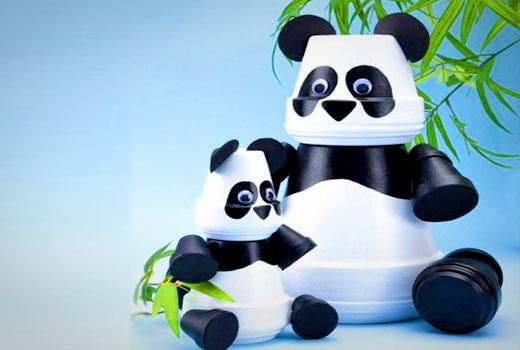 панда из горшков