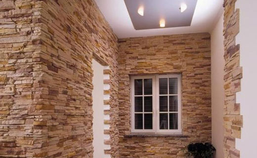 каменные обои поклейка на стены
