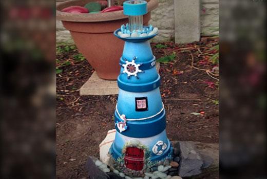 маячок для садового водоема