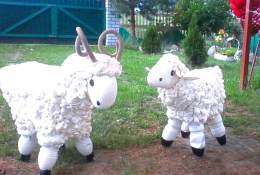 овцы для сада поделки