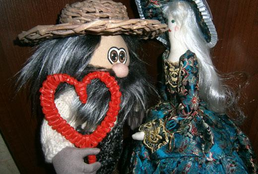 сердце плетеное