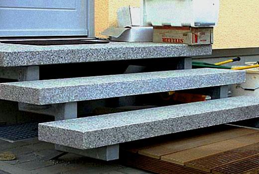 бетонные ступени на крыльце