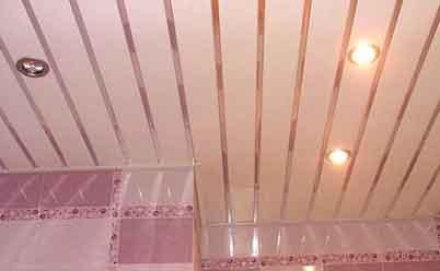 реечный потолок в ванной
