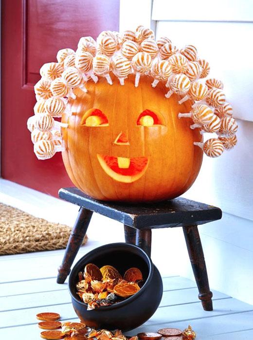 Тыква с конфетами Хэллоуин