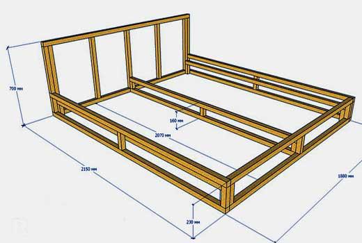 как собрать кровать-подиум