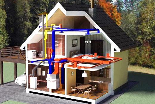Воздушное отопление дома экономное