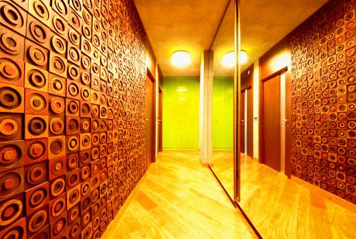 Плиточные деревянные панели