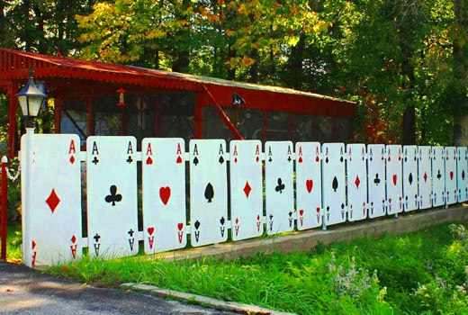 Оригинальный декоративный забор