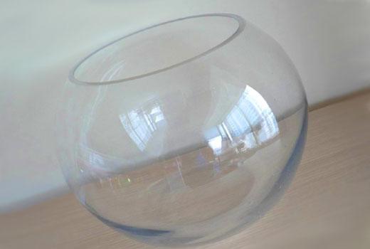 Стеклянный аквариум для вазы