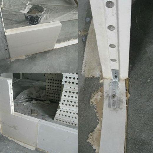 Монтаж гипсовых плит в перегородку