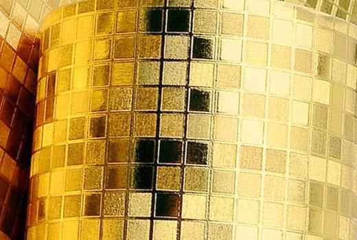 Обои золотая мозаика