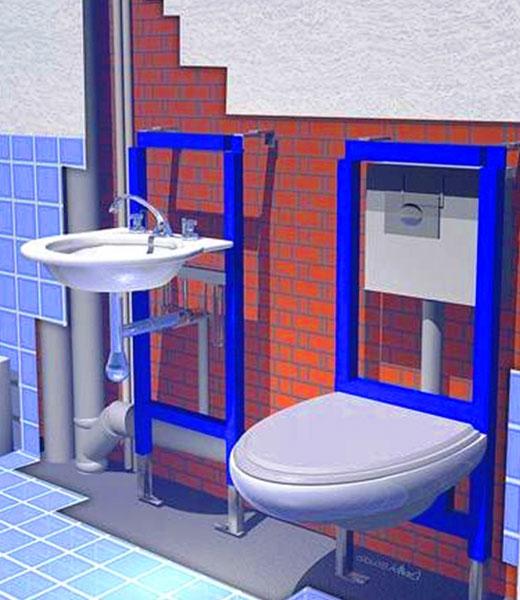 Инсталяция для подвесной сантехники
