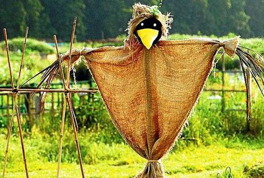 Пугало Ворона - поделки для сада