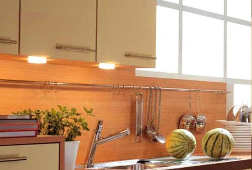 Люминисцентные светильники на кухне