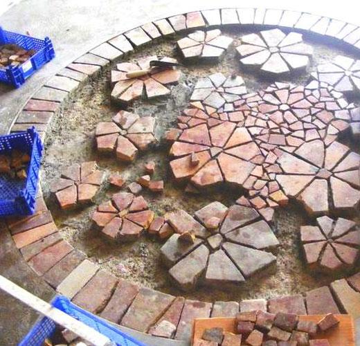 Каменная площадка для сада