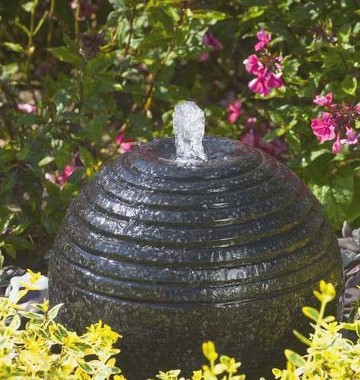 Фонтан рифленный шар