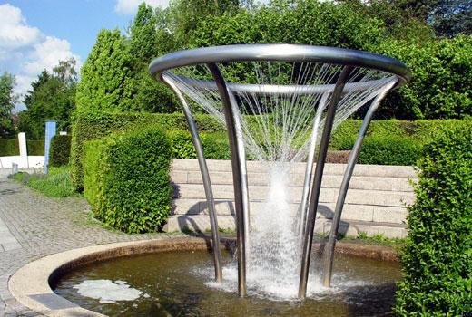 Спиральный фонтанчик для сада