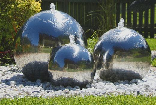 Шары садовый фонтан