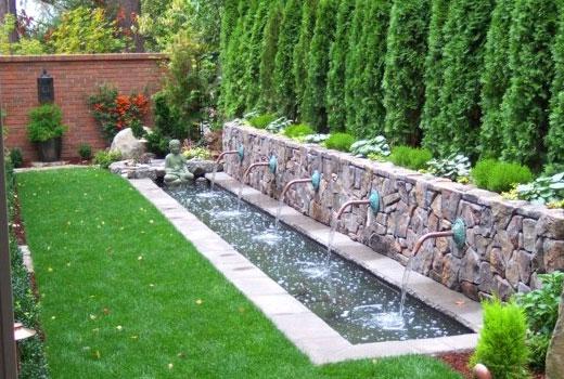 Садовые фонтанчики оригинально