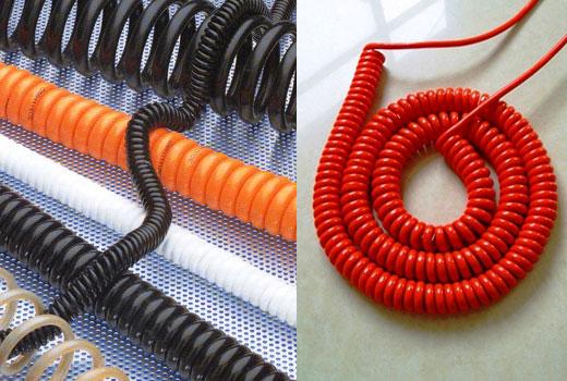 Из обычного провода делаем спиральный