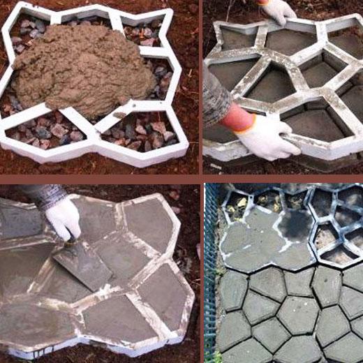 Изготовление плитки для садовой дорожки
