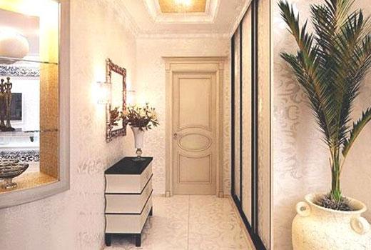Пальма комнатная в узкой прихожей
