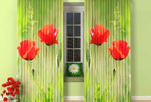 Фотошторы с растительный рисунком