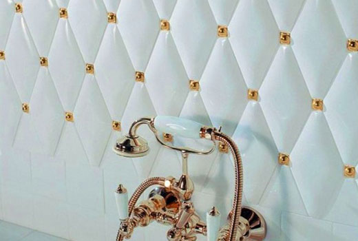 Ромбовидная плитка в ванной