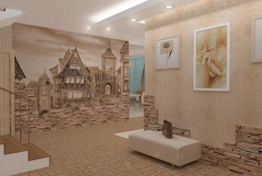 Роспись стен в прихожей
