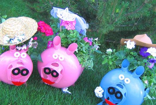 Пластиковые свинки